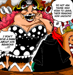 One Piece 830 - Big Mom and Jinbe by LESHUU