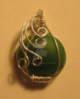Green Fairy Necklace by lalalura