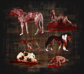 ADOPTABLES -- The canines without voice by Saranna