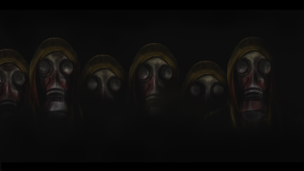 The Gas Masks by Harry-T-Shock