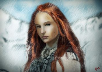 Sansa in the snow ! by IcedEdge