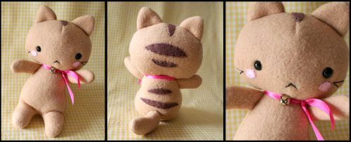 Cute Stripey Kitten Plushie by HezaChan