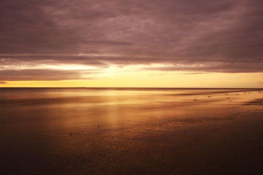 Water sunset and clouds yay by freedom-of-xpression