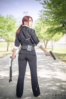 Claire Redfield cosplay RE M3D suit by CodeClaire