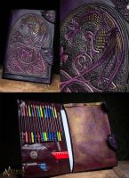 Folder for drawing with celtic pattern by Aetherwerk