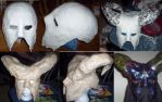 Process shots of Mask by Baron-Nutsnboltz
