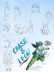 Chase and Leon's Ref Sheet by MasaBear