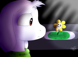 Asriel and Flowey by LonicHedgehog