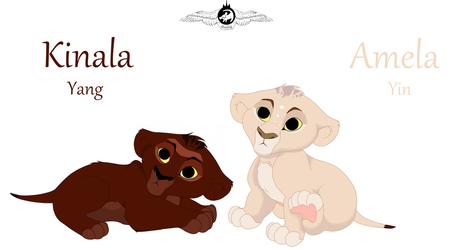 Sister twins Kinala and Amela ( Yin and Yang ) by LiontheNorthernlands