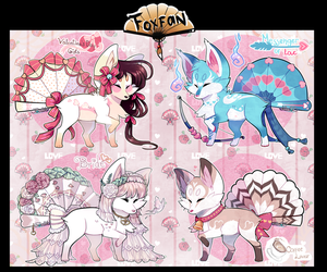 Valentine Day Foxfans// AUCTION// CLOSED AB ADDED by Belliko-art