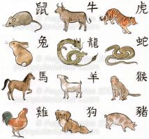 Chinese Zodiac Set by Pannya
