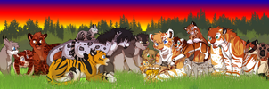 Happy Family Gathering by Firewolf-Anime