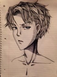 Anime Guy Sketch 6 by HawkRose00