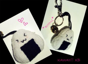 Onigiri Plushie by Bottle-Fairy