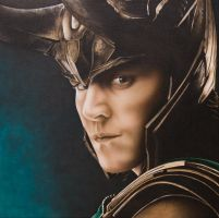 Loki (Tom Hiddleston) by MZ-Art