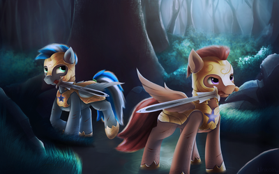 Comission: Dark forest by L1nkoln