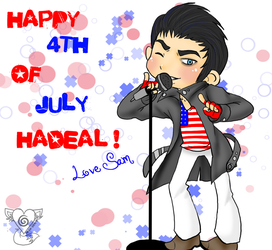 Adam sez Happy 4th Of July :3 by Numbuh-9