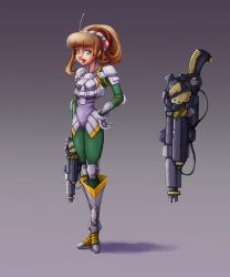 Character Concept_SciFi Battle Girl by ninaneco