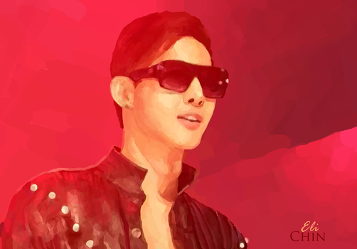 In red lights. Kim Hyun Joong. by mentheliqueur