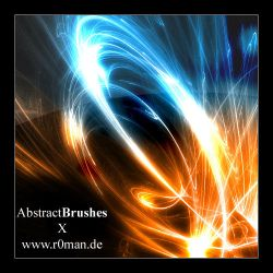 Abstract brushset X by r0man-de