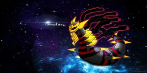 Giratina The Dark Pokemon Background by exampledesign