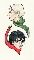 Rivals: Draco and Harry by AElddir