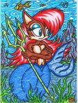 .:Request:. Sally Acorn The Mermaid Squirrel by AceOfSpeed94
