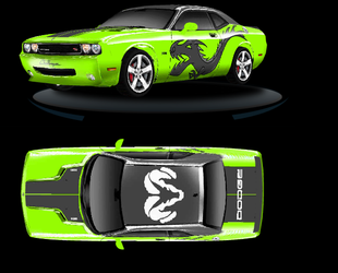 2009 Dodge Challenger by Hollow-Dragon