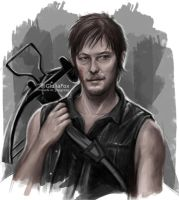 Daryl Dixon - wip - by JuliaFox90