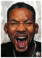 Will Smith Painting by kyle-lambert