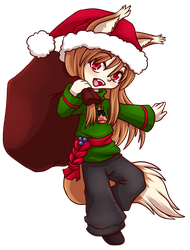 Christmassy Holo from Spice + Wolf by tsukino-hikaru