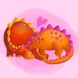 Finished Dinos by YamPuff