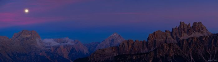 Cinque Torri - Night Panorama by AndreasResch