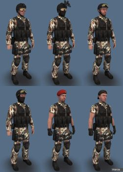 Blue Team Woodland04 by marze3d