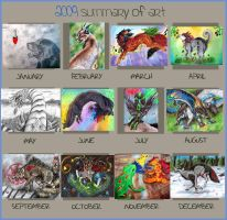 2009 Art Summary by animalartist16