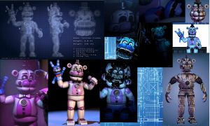 Funtime Freddy blueprint by Reaper-Fazbear