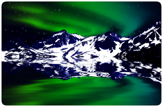 Green and Blue Northern Lights