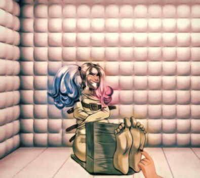 Harley Quinn Tickling Torture by pepecoco