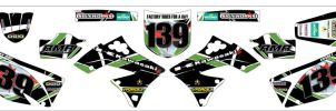 Kawasaki Team Green Motocross Decals by SquidMantis