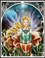 Art Nouveau: Good night Fairy by EmilieDionne