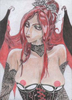 Succubus - Symphony of the night by Mephistofelesword
