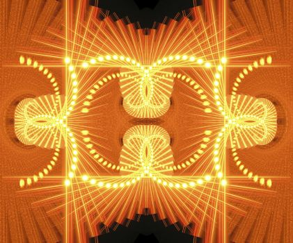 orange fractal by visual-synthesis
