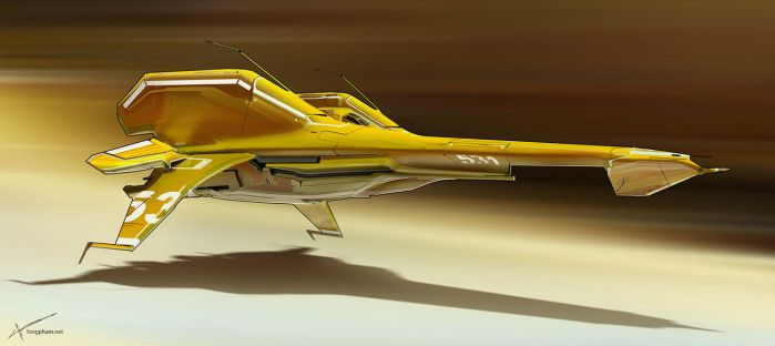 Racer ship - Yellow by Long-Pham