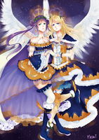 Christmas Angels~ by pupurutier