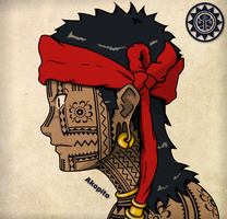 Bangut -  Visayan Facial Tattoo by Akopito