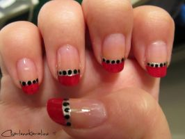 Red French Tip -  Right hand by CharleneKaraline