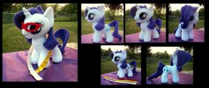 Rarity Filly with Accessories by fireflytwinkletoes