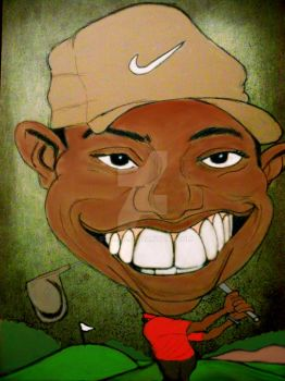 Tiger Woods by Struza