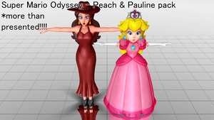 Super Mario Odyssey - Peach and Pauline DL by junk-hoes
