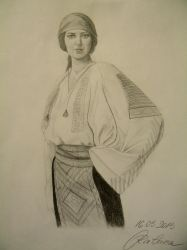 Romanian peasant girl by Psyche-psyche